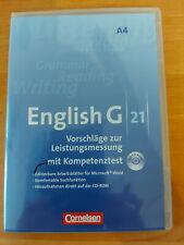 English G21 - A4 - Vorschläge zur Leistungsmessung Kompetenztest- Lernsoftware