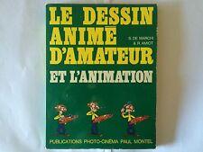 LE DESSIN ANIME D'AMATEUR ANIMATION 1974 DE MARCHI AMIOT ILLUSTRE PHOTO CINEMA