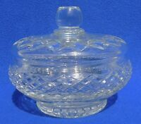 Vintage Cut Lead Crystal Glass Covered Candy Bowl Dish w/Lid #4217