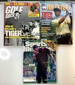 Tiger Woods Collection June 97 Golf Digest Tuff Stuff June 98 SI August 2000 HOT