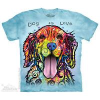 THE MOUNTAIN DOG IS LOVE LABRADOR ANIMAL PET CUTE ADORABLE PUPPY T SHIRT S-5XL