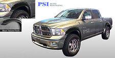 BLACK TEXTURED Pocket Rivet Bolt Fender Flares 09-16 Dodge RAM 1500 FULL SET