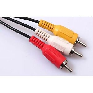 AV CABLE 3RCA 3 RCA Male AUDIO VIDEO Cord Composite Yellow/Red/White TV DVD sx