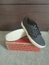 Vans Astwood Black leather trainers UK size 10 brand new with box