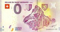 BILLET 0  EURO RELAIS DU SAINT BERNARD SUISSE   2018 NUMERO 100