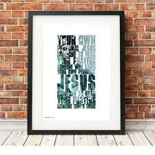 More details for depeche mode ❤ personal jesus ❤ song lyric poster art limited edition print #18