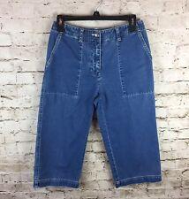 Women's Lauren Ralph Lauren 2P Capri Petite Denim Jean Cropped Pants 100% Cotton