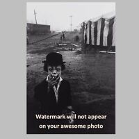 Scary Vintage Creepy Clown Smoking PHOTO Circus Freak Halloween Mask Costume