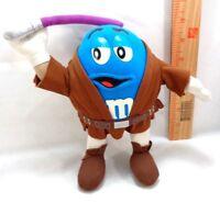 M&M Chocolate Candy Blue Stuffed Plush Toy Mace Windu Light Saber Star Wars
