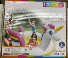 ✅ Intex Inflatable‼ Rainbow Unicorn‼Spray Kiddie Pool (Open Box‼)