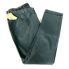 J-3447187 New Brioni Nile Green Flat Front Jeans Trousers Pants Size US 46