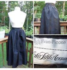 cbc96d8f0c1 Vintage Evan-Picone for Saks Fifth Avenue Black Taffeta Full Party Skirt l M