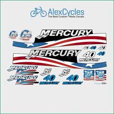 MERCURY Marine 40 HP Outboadrs Motor USA Laminated Decals Boat Kit Stickers