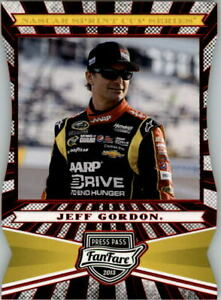 2013 Press Pass Fanfare Red Foil Die Cuts #19 Jeff Gordon