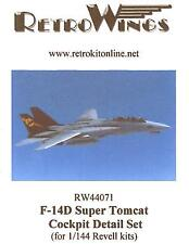 RetroKits Models 1/144 GRUMMAN F-14D SUPER TOMCAT COCKPIT DETAIL SET Resin Kit
