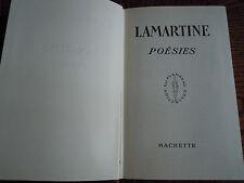 LIVRE ANCIEN LAMARTINE/POESIES COLLECTION DU FLAMBEAU 1956 couleur pourpre