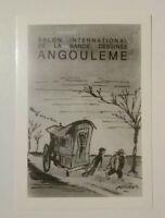 Carte postale FRED salon international de la BD grand prix 1980 Angoulême