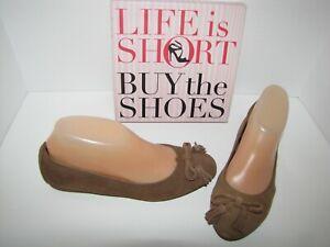 NWOB Crocs 'Lina' Brown Suede Ballet Flats - 7.5M
