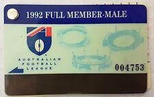 MCG 1992 AFL Carlton Football Club Adult Full Member Male Membership Ticket Card