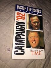 Inside The Issues Campaign 1992 VHS New Sealed Clinton Bush Time