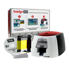 Evolis Badgy200 Plastic Complete ID Card Solution Ribbon Cards Software NEW