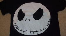 Big JACK SKELLINGTON Head T-Shirt Nightmare Before Christmas Burton Small Disney