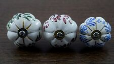 Nice Vintage Lot Of 3 Ceramic Knob Drawer Pulls Interior Decorative. i24-69 AU