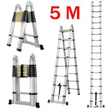 Heavy Duty 5M Telescopic Ladder Extendable Folding Steps Ladder Extension Ladder