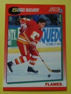 SCORE 1991  ICE HOCKEY TRADING CARD SERGEI MAKAROV 51 CALGARY FLAMES