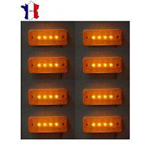 8X 24V 4 LED FEUX DE GABARIT LATERAUX ORANGE POUR VOLVO MERCEDES RENAULT FORD