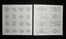 Kanban 2 A4 Foiled /& Embossed Floral Frame Decoupage Card Toppers 55418//01