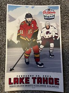 VEGAS GOLDEN KNIGHTS RARE NHL OUTDOORS GAME POSTER COLORADO AVALANCHE #188/250