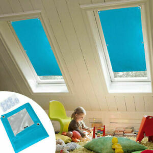 2020 Blackout Thermal Skylight Blind Window for Velux with Sucker Cups Blue