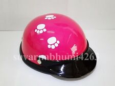 Helmet Hat Cap Dog Cat Costume Accessory Pet Supplies Safety Pink WhiteFootprint
