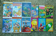 UNTESTED Lot of 12 Childrens VHS Tapes--Care Bears, Sesame Street, Rugrats, etc.