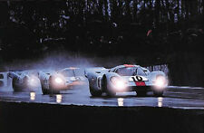 XMAS Special! (3) Porsche Gulf 917s at Brands Hatch Most Popular Car Poster! WOW