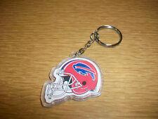Vintage Plastic Keychain NFL Buffalo Bills Football Helmet Logo