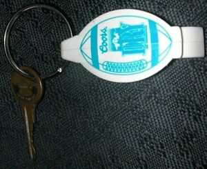 VINTAGE COORS DRY FOOTBALL CAN  BOTTLE OPENER KEY CHAIN GOLDEN COLORADO 70s80s