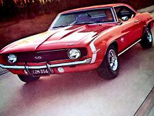 1969 CHEVY CAMARO SS 396 ORIGINAL AD * Z28/RS/cowl induction/hood/scoop/door/427