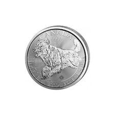 OZ018 - 2018 Canada Wolf Predators - 1 OZ Argento/Silver 999 1$