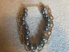COACH Signature Gold ✦ Tahitian Black Pearl Necklace ✦ Miranda Statement Choker