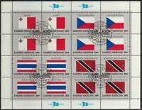 UNO New York 1981 gestempelt  MiNr.  373-388   Flaggen Bogen Satz