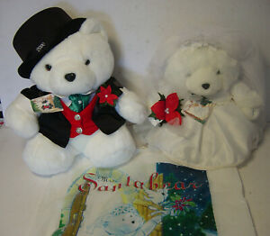 Mr & Mrs Santa Bear Christmas Wedding Bride Groom Santabear Bags Tags 2000 DH MF