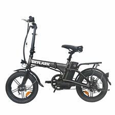 "Folding Electric Bike 250W Lightweight Aluminum 16"" 36V10A Lithium Battery"