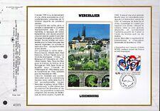 2986++FEUILLET CEF SUR  SOIE 1er JOUR 1996  WERCOLLIER