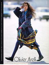PUBLICITE ADVERTISING 025  1986  OLIVIER STRELLI haute couture par VAN MALDER