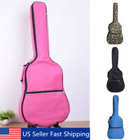 "39""-41"" Double Straps Acoustic Guitar Soft Carry Case Gig Bag Padded Backpack US"