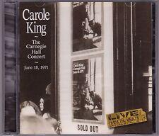 Carole King - The Carnegie Hall Concert - CD (ODE Legacy 485104.2)