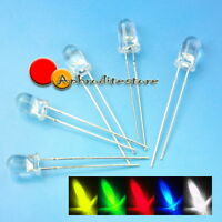 100pcs 5mm Red Green Blue Yellow White Ultra Bright LED Light Bulb Lamp 20000mcd