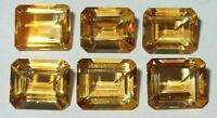 12x10mm Beautiful Brazil Bright Gold Citrine Emerald Cut